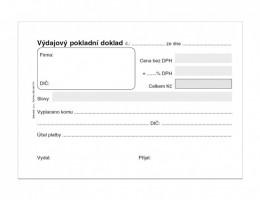 Výdajový pokladní doklad A6 50 listů ET 040