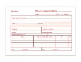 Příjmový pokladní doklad pro podvojné účetnictví ET 030