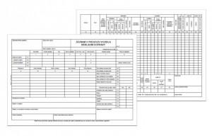 Záznam o provozu vozidla nákladní dopravy A4 číslovaný ET 212