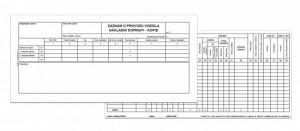 Záznam o provozu vozidla nákladní dopravy alonž ET 220