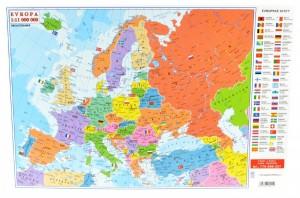 Mapa oboustranná - Evropa - Svět A2