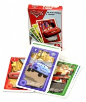 Dětské hrací karty 2 v 1 - Černý Petr + Karetní pexeso - Disney - Cars - 2679