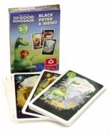 Dětské hrací karty 2 v 1 - Černý Petr + Karetní pexeso - Hodný Dinosaurus - 2648