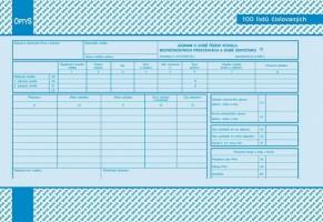 Záznam o době řízení vozidla a bezpečnostních přestávkách A4 číslovaný OP 1166
