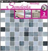 Samolepka na zeď - mozaika plastická - imitace obkladů -  2 archy 25,5 x 25,5 cm - 10202