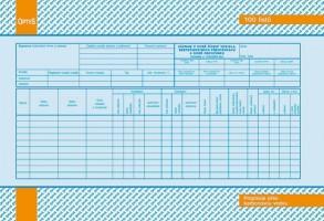 Záznam o době řízení vozidla a bezpečnostních přestávkách karbon A4 OP 1174