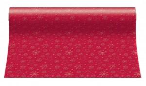 Stolní běhoun - Winter Flakes - červený - ATR001203