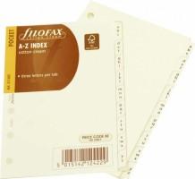 Náplň do diáře Filofax - kapesní - Index A-Z 211685