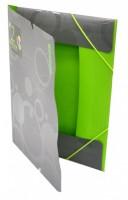 Sloha s gumou A4 - Duo Colori - šedá-zelená - 2-585