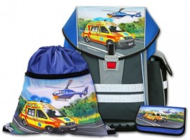 Školní aktovkový set Ergo One - Záchranáři 3-dílný C-8010-2.105