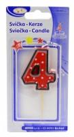 Dortová svíčka na špejli - číslo - 4 - 37204