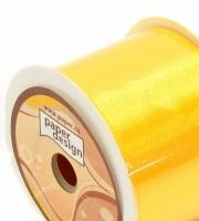 Stuha saténová 40 mm / 10 m - tm. žlutá - 1402