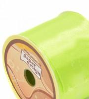 Stuha saténová 40 mm / 10 m - sv. zelená - 1409