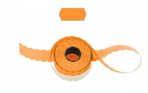 Cenové - značkovací etikety 26 x 12 Uni signální oranžové