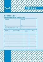 Dodací list A6 nečíslovaný Optys 1045