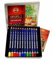 Souprava pastelek Triocolor Koh-i-noor - trojhranné silné 12 ks 3162012001PL