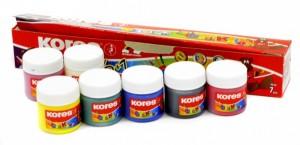 Prstové barvy Kores - Finger Paint Dedi Color 6+1 ks  30 ml 72327