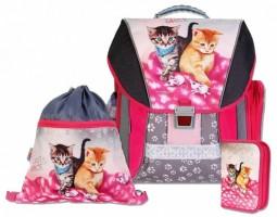 Školní batohový set Emipo -  Cats & Mice 3-dílný  C3-7910-4.118