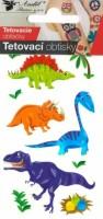 Tetovací obtisky - 10,5 x 6 cm - malí dinosauří - 1106