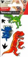 Tetovací obtisky - 10,5 x 6 cm - velcí dinosauří - 1107