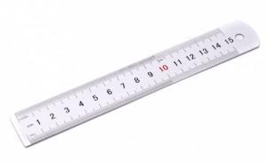Pravítko - hliník - 15 cm - PK56-1