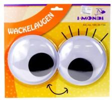 Dekorace - oči nalepovací - 2 ks - 15 cm