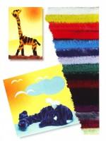 Plyšové dráty 50 cm x 9 mm - mix 10 barev