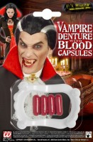 Zuby drákula s krvavými kapslemi - W91702