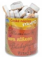 Razítka Stampo Scrap Aladine 35 ks -  České nápisy 1316/8553700