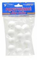 Polystyrenové kuličky 3 cm - 12 ks - 6708