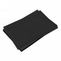 Vlnitá lepenka-černá 50 x 70 cm