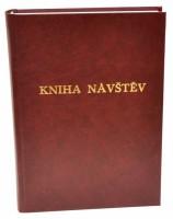 Kniha návštěv A4 - čistá -200 listů - bordó