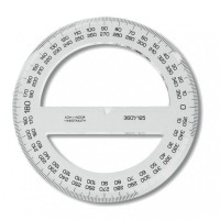 Úhloměr  transparentní - 360/125