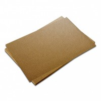 Vlntá lepenka-matná zlatá 50 x 70 cm