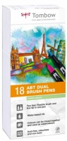 Fixy Tombow - oboustranné 18 ks - Pastel colours TABT-18P-5