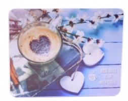 Podložka pod myš - obdélník 23 x 19 cm - Coffee Time - 2041