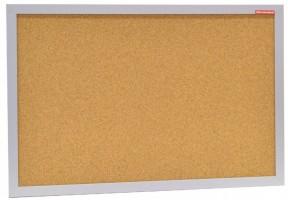 Tabule korková 60 x 40 cm - stříbrný rám - QTC64MDF1