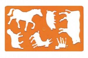 Šablona zvířátek kůň - 749054