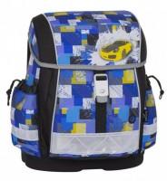 Školní aktovka Bagmaster - Epson 8 B - Black / Blue / Yellow