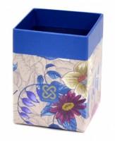 Stojánek na tužky hranatý - Cornell 35 Blue Leaves - 17396535