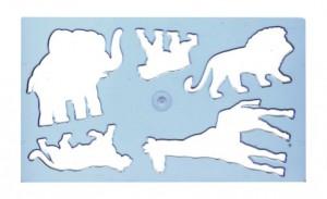Šablona zvířátek lev - 749060