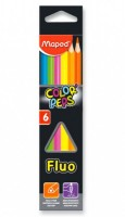 Pastelky Maped Color´Peps Fluo - 6 barev 9832003