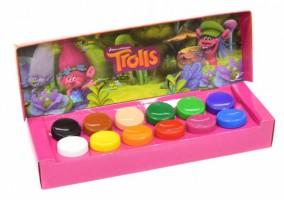Plakátové barvy Trolls - 12 barev / 20ml  358260