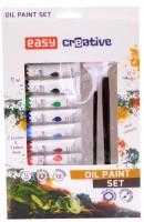 Olejové barvy set - 12 barev, 2 štětce, paleta - S923461