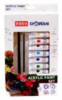 Akrylové barvy set - 12 barev, 2 štětce, paleta - S923458