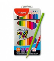 Pastelky Maped Color´Peps Metal Box - 12 barev 832014
