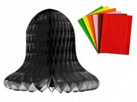 Plástvový papír 30 listů - černý - 17 x 25 cm