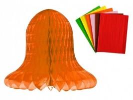 Plástvový papír 30 listů - oranžový - 17 x 25 cm