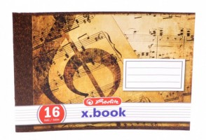 Notový sešit - 16 listů - na šířku - 60075090