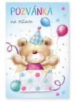 Party pozvánky 6 ks - Méďa - 1140059